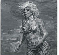 "Yan Pei-Ming, ""Lady Gaga"", 2012, huile sur toile, 280 x 280 cm"