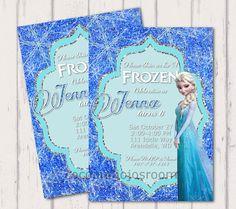 Disney Frozen Elsa Invitation  Personalized by cocoandjojosroom, $8.00