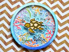 Blue Marine Craft: Under the Sea Card Series w/ Lawn Fawn - Waving Hello - Shaker Card Cute Cards, Diy Cards, Craft Cards, Card Making Inspiration, Making Ideas, Handmade Card Making, Handmade Cards, Lawn Fawn Blog, Paper Craft Making