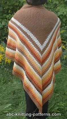 Autumnal Triangle Shawl