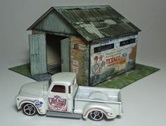 PAPERMAU: The Old Garage Paper Model In 1/64 Scale - by Papermau Download Now!