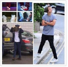 The more awkward standing positions of Harry Styles. <<< I actually stand like this sometimes. He is just so sexy!