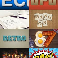 The Best 80 Photoshop Text Effects on the Web