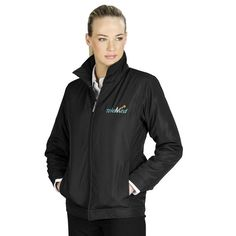 This Ladies Benton Executive Jacket Has Single-Button Cuffs, Two Hand Pockets, An Interior Pocket And A Interior Mobile Phone Pocket. Padded Jacket, Adidas Jacket, Rain Jacket, Windbreaker, Lady, Cuffs, Beanie, Stuff To Buy, Pockets