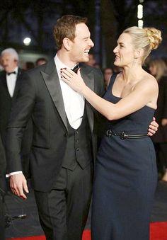 Michael Fassbender and Kate Winslet red carpet fun