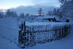 Here is my village | village, winter