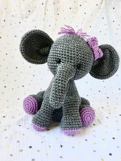 Baby Elephant stuffed elephant baby shower gift new baby