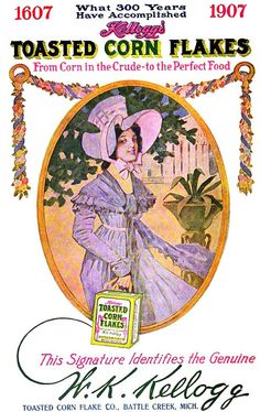 Corn Flakes ad 1907