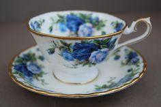 Royal Albert Moonlight Rose Peony Tea Cup and Saucer