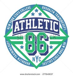 Athletic sport new York typography, t-shirt graphics, vectors - stock vector