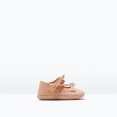 Image 1 of LEATHER BALLERINA from Zara