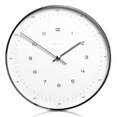 Max Bill Modern Wall Clock with Numbers