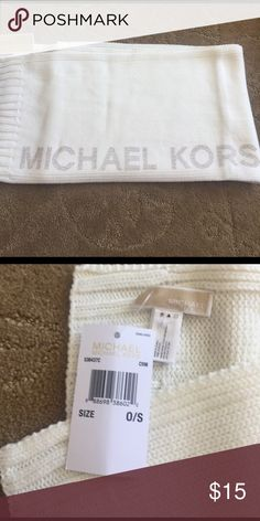 Michael KORS scarf! New with tags. Cream scarf. Never worn. With tags. Will accept best offer! MICHAEL Michael Kors Accessories Scarves & Wraps