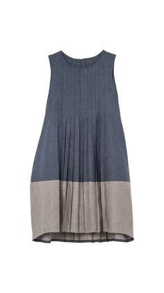 Woman : Dress Vichy That the hem is bound in chambray to match the top = minimalist perfection