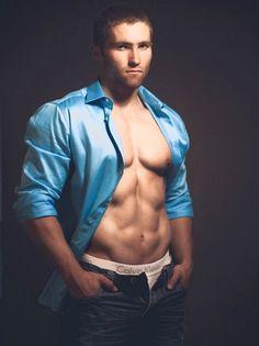from Jesus gay muscular man in silk shirt