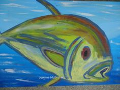 Funky Fish Original Painting by creationsbyingrid1 on Etsy, $29.00
