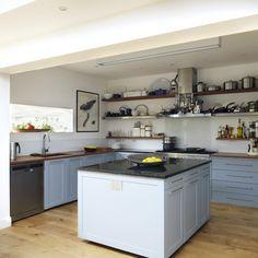 Cool blue kitchen | Kitchen designs | Kitchen units