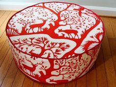 floor pouf Duralee floor cushion modern