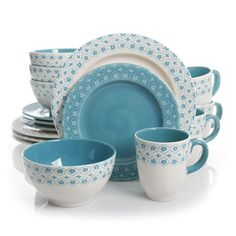 Gibson General Store 16 Piece Cottage Chic Ceramic Dinnerware Set. General Store 16 Piece Cottage Chic Ceramic Dinnerware Set is Microwave and Dishwasher Safe.Set Includes:4 10.5 Dinner Plate4 8.5 Dessert Plates4 6 Bowls4 14oz MugsGibson General Store 16 Piece Cottage Chic Ceramic Dinnerware SetCondition : This item is brand new, unopened and sealed in its original factory box.