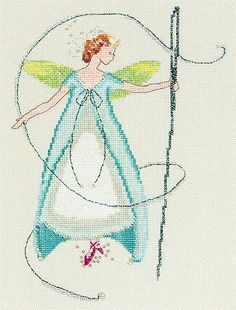 Needle Fairy (Stitching Fairies) - Cross Stitch Pattern  * Stitch Count: 105W x 14