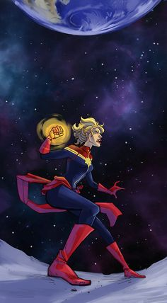 Captain Marvel by nonvieta Ms Marvel, Marvel Art, Marvel Avengers, Marvel Comics, Star Trek, Marvel Heroines, Captain Marvel Carol Danvers, Geek Art, American Comics