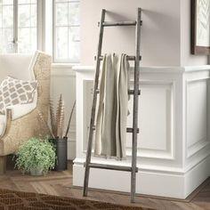 August Grove® 4 ft Blanket Ladder | Wayfair Rustic Ladder, Wood Ladder, Ladder Decor, Diy Ladder, Rustic Wood, Blanket Rack, Blanket Ladder, Wall Ladders, Rustic Blankets