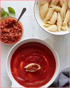 Grab the recipe for these Turkey Bolognese Stuffed Shells loaded with fresh mozzarella and a quick and easy turkey bolognese filling Jumbo Shells Stuffed, Stuffed Shells Recipe, Whats Gaby Cooking, Fresh Mozzarella, Chana Masala, Deli, Thai Red Curry, Stuffed Mushrooms