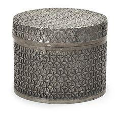 An Estrid Ericson trellice pattern pewter box by Svenskt Tenn.   Stockholm 1938. H 6,5 cm