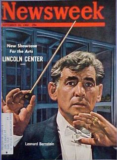 Newsweek cover, September 14, 1962: Leonard Bernstein