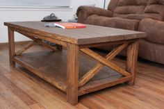 Here is a coffee table that we built.  Soon we will be making a corner table as a matching set.  To see how we made it, visit our website www.CountryBarnFurniture.com
