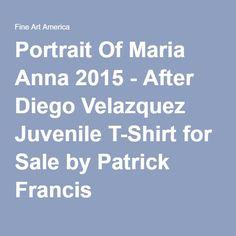 Patrick Francis - Portrait Of Maria Anna - After Diego Velazquez Designer Juvenile T-Shirt by Patrick Francis