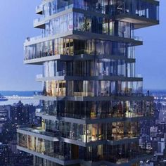 This 57-story residential in the Tribeca area will house 145 residences, each one with its own unique floor plan and private outdoor space. This typology makes the building look like a stack of houses,each floor stacked on top of one another, each one slightly askew to create dramatic cantilevers, away from the traditional skyscraper form. The $650 million project will offer apartments ranging from 1,430 square feet to 6,360 square feet.