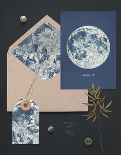 Full+Moon+Printable+A6+Greeting+Card+Set.+Matching+от+ILKADesign