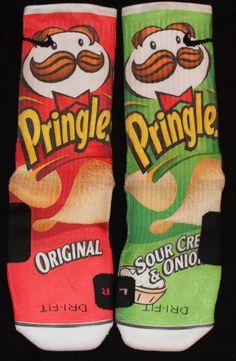 Pringles Inspired Custom Nike Elite Socks by InWestCoastCreations