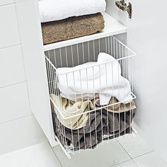 Bathroom Furniture, Bathroom Interior, Bathroom Ideas, Bathroom Collections, Smart Storage, Plastic Laundry Basket, Furniture Collection, Storage Solutions, Laundry Room