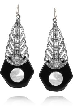 Lulu Frost Antigone sterling silver, mother of pearl and crystal earrings