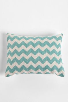 Crewel Embroidered Zigzag Pillow... would it be bad to have EVERYTHING chevron in one room?! I think I'm obsessed