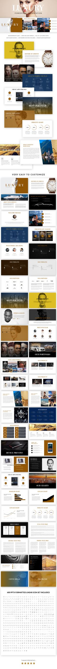 Luxury Powerpoint Presentation Template. Download here: http://graphicriver.net/item/luxury-powerpoint-presentation-template/15841116?ref=ksioks