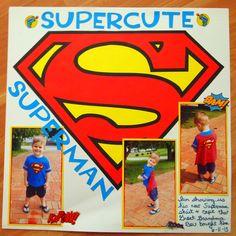 Supercute Superman - Scrapbook.com