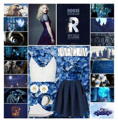 """Ravenclaw - Harry Potter - Luna Lovegood"" by aliiceroseee ❤ liked on Polyvore featuring Luna, Narciso Rodriguez, Closet, Converse, People Tree, harrypotter, ravenclaw, evannalynch and lunalovegood"