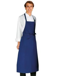 Bragard Travail Bib Apron Blue - top rated by Cook's Illustrated