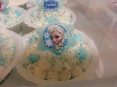 Beautiful Frozen cupcakes I made!