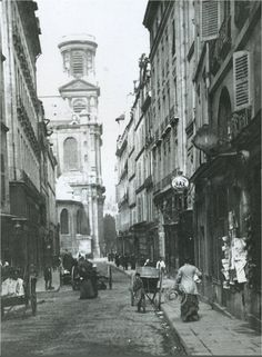 Planning on getting a dress custom made for Jane from an old friend who lives in Paris. Thought this would be a nice surprise for Jane part way through the honeymoon. Old Street, Paris Street, Street View, Old Paris, Vintage Paris, History Of Photography, Vintage Photography, Belle Epoque, Old Pictures