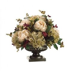 Silk Centerpiece with Roses and Peonies ARWF3188