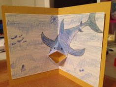 Shark pop up card Happy birthday Fabio!
