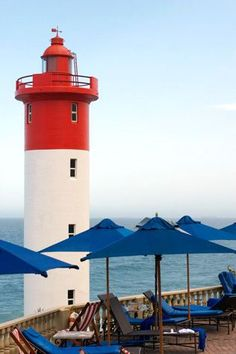 Umhlanga lighthouse,Umhlanga, Durban, KwaZulu Natal,  South Africa