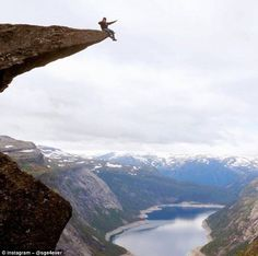 The fatality hasn't deterred people from braving the sheer drops either side of the rock f...