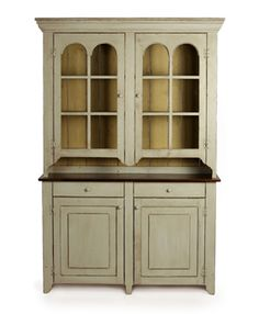 Arch Stepback Hutch with Barnboard Back