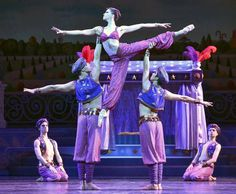 """Angelina Sansone, is carried in the Arabian scene of the Land of the Sweets of Act 2 during Wednesday's dress rehearsal of """"The Nutcracker"""" by the Kansas City Ballet at the Kauffman Center for the Performing Arts on December 2, 2015 in Kansas City, MO."""