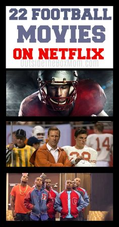These 20 best football movies on Netflix are great to watch during the Summer, pre-season, football season, or any Friday night during the year. High School Football Movies, American Football Movies, Best Football Movies, Best Movies List, Movie List, Netflix Titles, Netflix Dramas, Good Movies On Netflix, Good Movies To Watch
